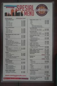 pilihan menu